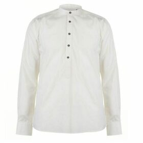 Pierre Cardin Collarless Long Sleeve Shirt Mens - Beige