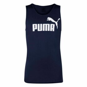 Puma No1 Sleeveless T Shirt Mens - Navy/White