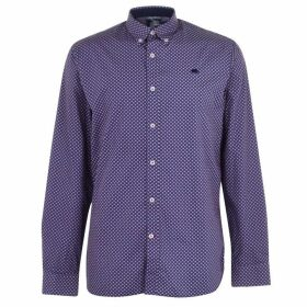 Raging Bull Circle Poplin Shirt - Navy74