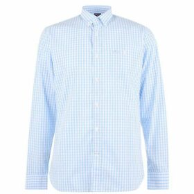 Raging Bull Long Sleeve Gingham Shirt - Blue