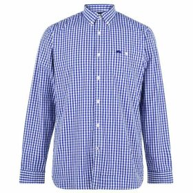 Raging Bull Raging Long Sleeve Gingham Shirt - Navy74