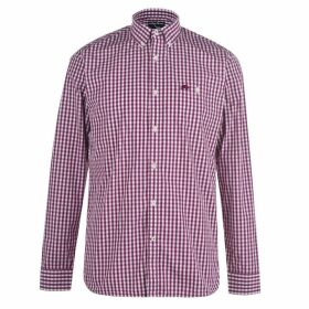Raging Bull Raging Long Sleeve Gingham Shirt - Purple78