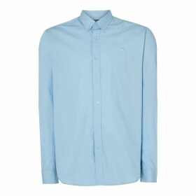 Raging Bull Long Sleeve Signature Poplin Shirt - Blue