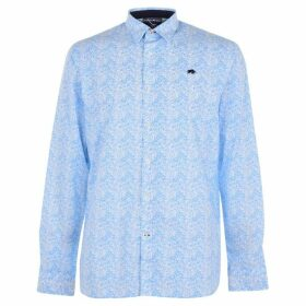 Raging Bull Long Sleeve Floral Shirt - White