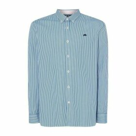 Raging Bull Raging Bull Long Sleeve Candy Stripe Shirt - Cobalt73