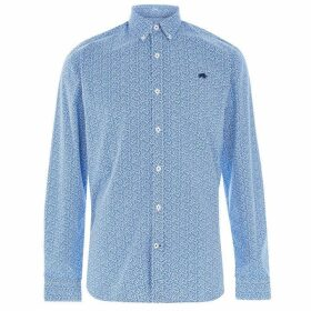 Raging Bull Raging Long Sleeve Leaf Shirt - Cobalt Blue73