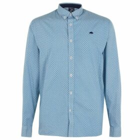 Raging Bull Long Sleeve Geo Shirt - Teal223