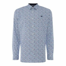 Raging Bull Raging Long Sleeve Floral Shirt Mens - Purple78