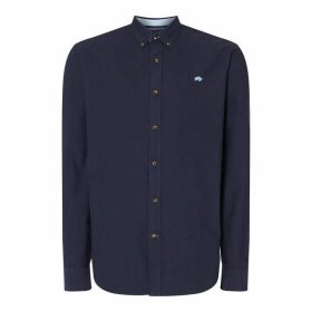 Raging Bull Raging Long Sleeve Oxford Shirt - Blue