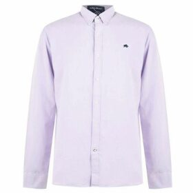 Raging Bull Raging Long Sleeve Oxford Shirt - Purple