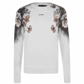 Religion Flower Long Sleeve T Shirt - White