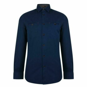 Ted Baker Sleeve Denray Shirt - Navy