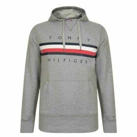 Tommy Hilfiger Stripe Logo Hoodie - Grey