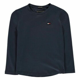 Tommy Hilfiger Essential Ribbed Long Sleeve T Shirt - Black Iris