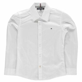 Tommy Hilfiger Long Sleeve Poplin Shirt - White
