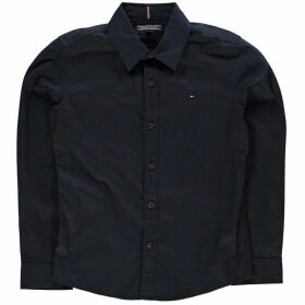 Tommy Hilfiger Long Sleeve Poplin Shirt - Blue