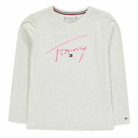 Tommy Hilfiger Signature Long Sleeve T-Shirt - Egg Nog Htr