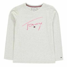 Tommy Hilfiger Signature Long Sleeve T-Shirt - Egg Nog Htr