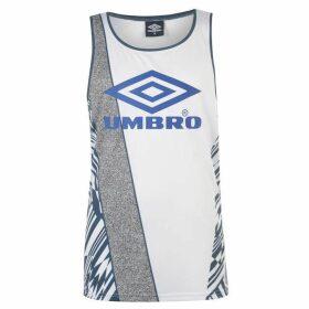 Umbro Azteca Vest - White/Blue/Surf