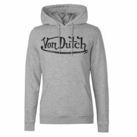 Von Dutch Abras Hoodie - Grey Marl/Blk
