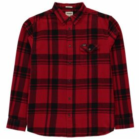 Wrangler Single Pocket Long Sleeve Shirt - Salsa Red