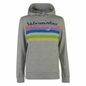 Wrangler Rainbow Hoodie - Mid Grey Mel