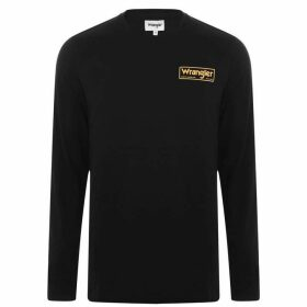 Wrangler Long Sleeve Box T Shirt - Black