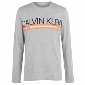 Calvin Klein Underwear Long Sleeve T Shirt - Grey/Orange
