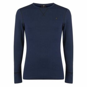 G Star Korpaz Long Sleeve T Shirt - Sartho Blue