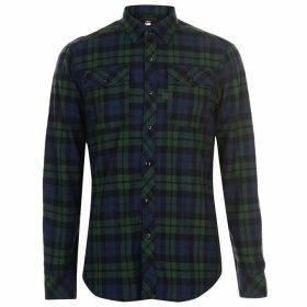 G Star Landoh Long Sleeve Shirt - Blue/Green