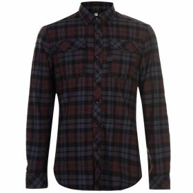 G Star Landoh Long Sleeve Shirt - Navy/Burgundy