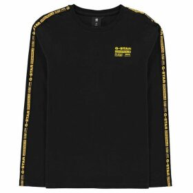 G STAR Arm Logo Long Sleeve T-Shirt - Black