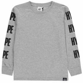 Hype Block Long Sleeve Top - Grey