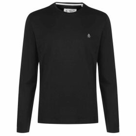 Original Penguin Original Long Sleeve Crew T Shirt - Black 010