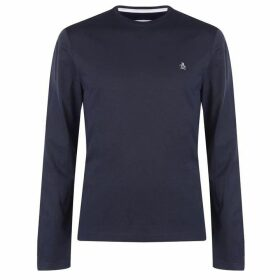 Original Penguin Original Long Sleeve Crew T Shirt - Blue