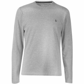 Original Penguin Original Long Sleeve Crew T Shirt - Grey