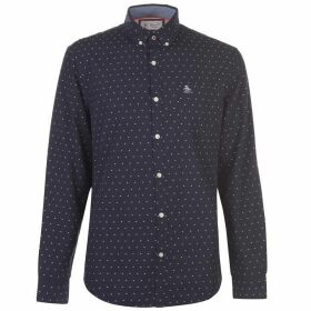 Original Penguin Original Long Sleeve Star Print Shirt - Dark Sapphire