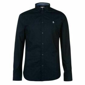 Original Penguin Original Poplin Long Sleeve Shirt - Navy 413