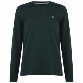 Original Penguin Original Long Sleeve Crew T Shirt - Spruce Grn 372