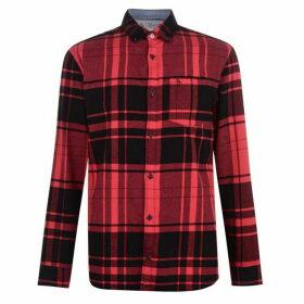 Original Penguin Long Sleeve Check Shirt - Red 617