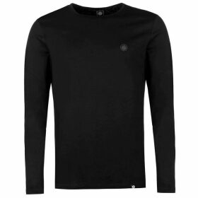 Pretty Green Long Sleeve T Shirt - Black