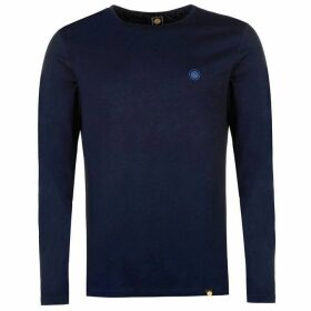 Pretty Green Long Sleeve T Shirt - Navy