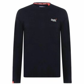 Superdry Long Sleeve Basic T Shirt - Blue