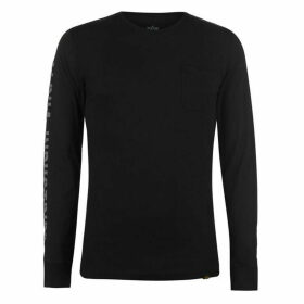 Alpha Industries Alpha Industries Long Sleeve T Shirt Mens - Black 03