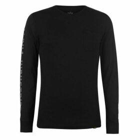 Alpha Industries Alpha Industries Long Sleeve T Shirt Mens - Black