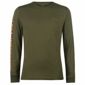 Alpha Industries Alpha Industries Long Sleeve T Shirt Mens - Green