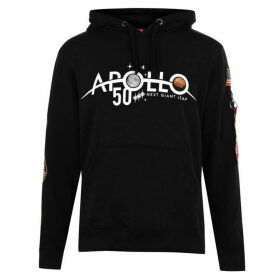 Alpha Industries Apollo 11 Anniversary Badge Hoodie - Black 03
