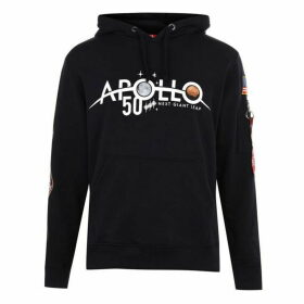 Alpha Industries Apollo 11 Anniversary Badge Hoodie - Blue