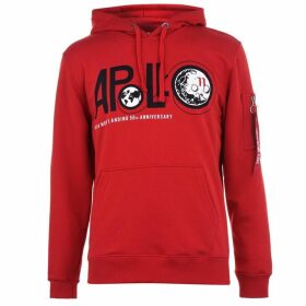 Alpha Industries Apollo 11 Anniversary Hoodie - Speed Red 328