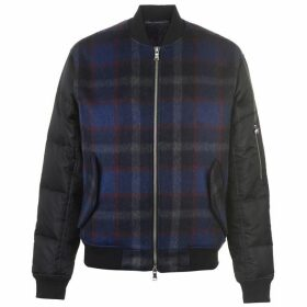 The Very Warm Hyde Wool Bomber Jacket - Blue Plaid